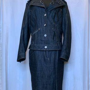 Miss Alliage medium denim jacket and skirt set